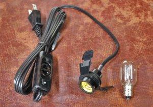 画像1: スイッチ付き電球コード(電球付き)